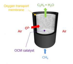catalytic membrane reactor diagram