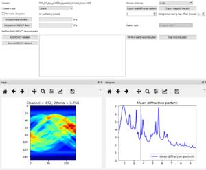 example of XRD-CT sinogram data volume exploration image